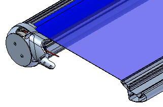16 22 Roll up the canvas and insert the lower edge in the terminal ferrule. R fig.