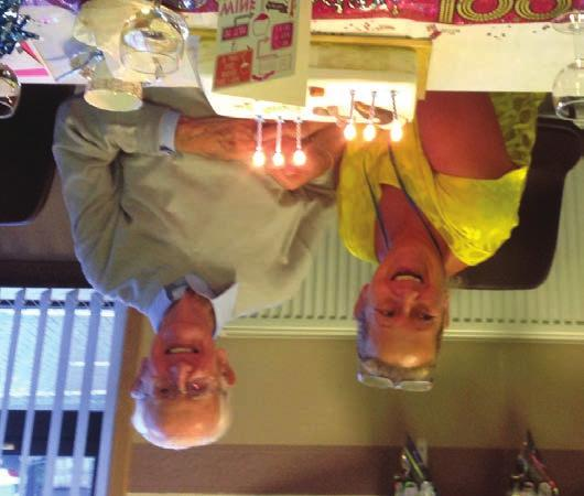 We held a tea party in his honour and he, his family, tenants and representatives from Abertay had a lovely time.