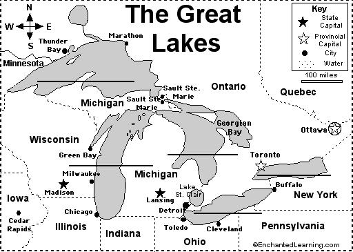 Fill in the names of the Great Lakes. There is an easy way to remember the lakes names: Remember: HOMES H uron O ntario M ichigan E rie S uperior Did you know?