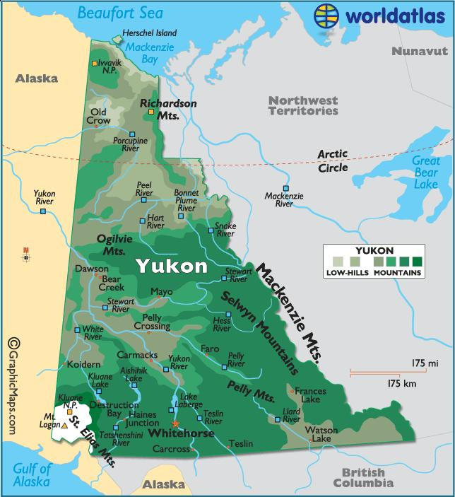 YUKON 1. What is the capital of the Yukon Territory? 2. Name the large body of water to the north of Yukon? 3.