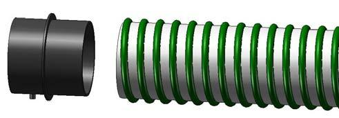 Make sure the hose is completely seated next to the plate and secure it with one of the hose clamps.