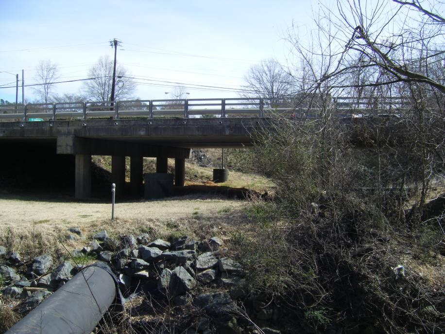 View from the Carrboro Public Works facility toward Smith Level Road on the north side of Morgan