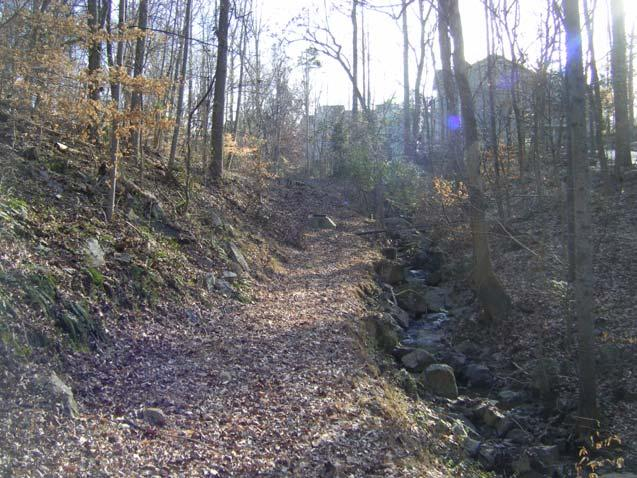 Steep stretch of OWASA easement approaching
