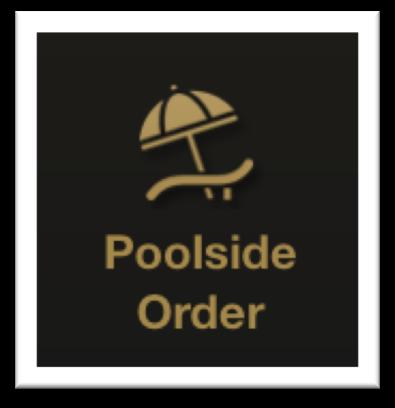on kitchen printer (no additional manual work/delay) MOBILE POOLSIDE ORDERING Guest scans the QR code on their poolside table to get started (app remembers their