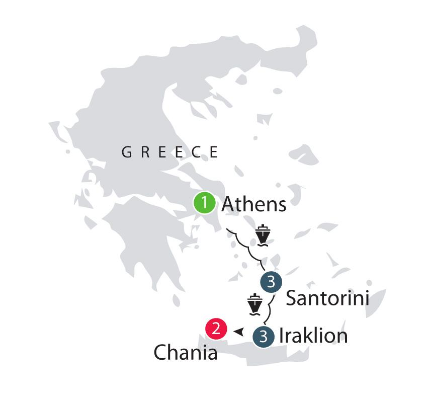 During this short tour we experience the intoxicating mix of culture and history that the Greek islands have to offer over the course of 10 days.