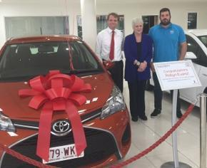 WHO WANTS TO WIN A BRAND NEW CAR? This year we have once again teamed up with Grand Motors Toyota to give one of our lucky members the chance to WIN a brand new Toyota Yaris. IT COULD BE YOU.