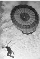 When a parachute is housed in a container such as a backpack, it may consist of main canopy and another smaller canopy known as a pilot chute.