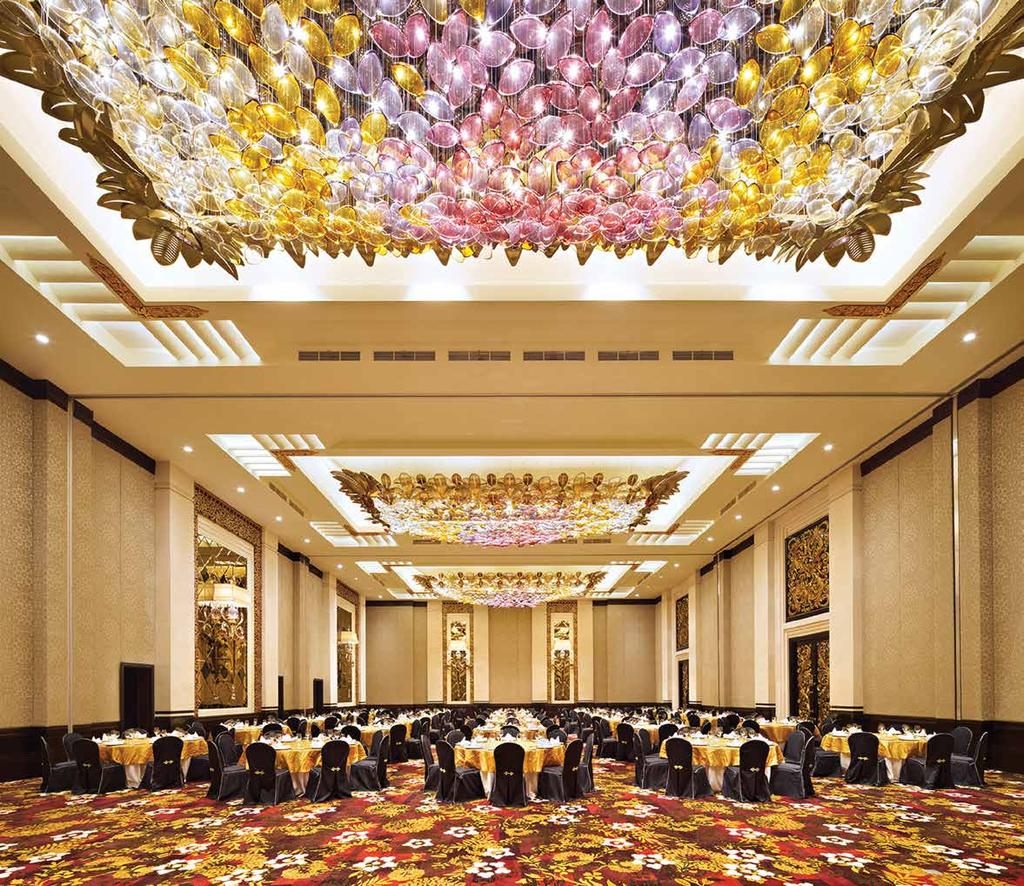 THE GRAND BALLROOM The Grand Ballroom is perfect for bringing prestigious atmosphere to