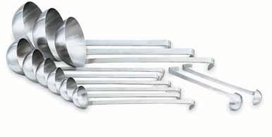 Kitchen Essentials The Vollrath Company, LLC One-Piece Ergo Grip Ladles with Kool-Touch Handles One-piece construction Stainless steel Coated handle is equipped with Agion antimicrobial protection