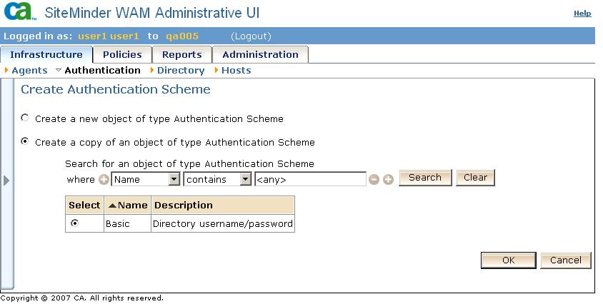 Go to Infrastructure > Authentication.