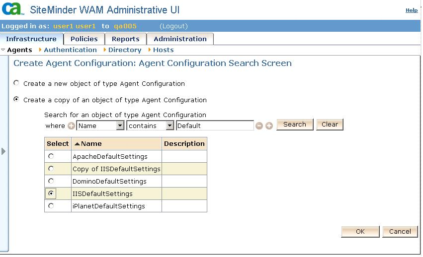 Go to Agent Configuration. Click on Create Agent Configuration.