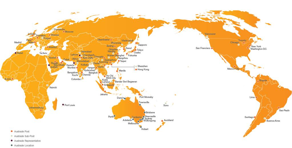 Austrade s network global local knowledge and relationships