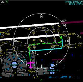 Traffic display around the runway Indications and