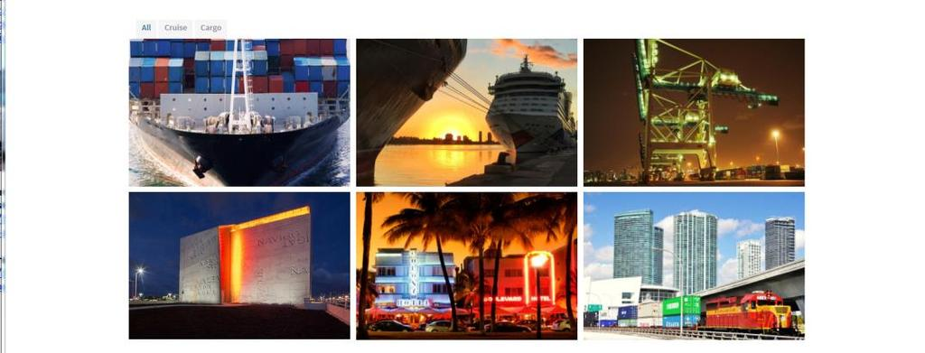 The new site separated the cruise and cargo webpages allowing cargo users to easily access cargo business development