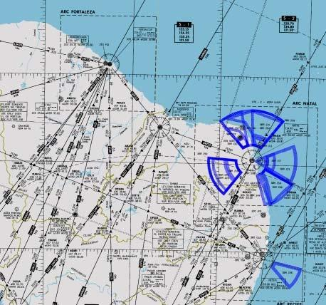 GREPECAS/16-WP/28-2 - 2. Analysis 2.1. The evolution of air operations in CRUZEX V consisted of about 100 daily departures from Recife (RBFS) and Natal (SBNT) airports.