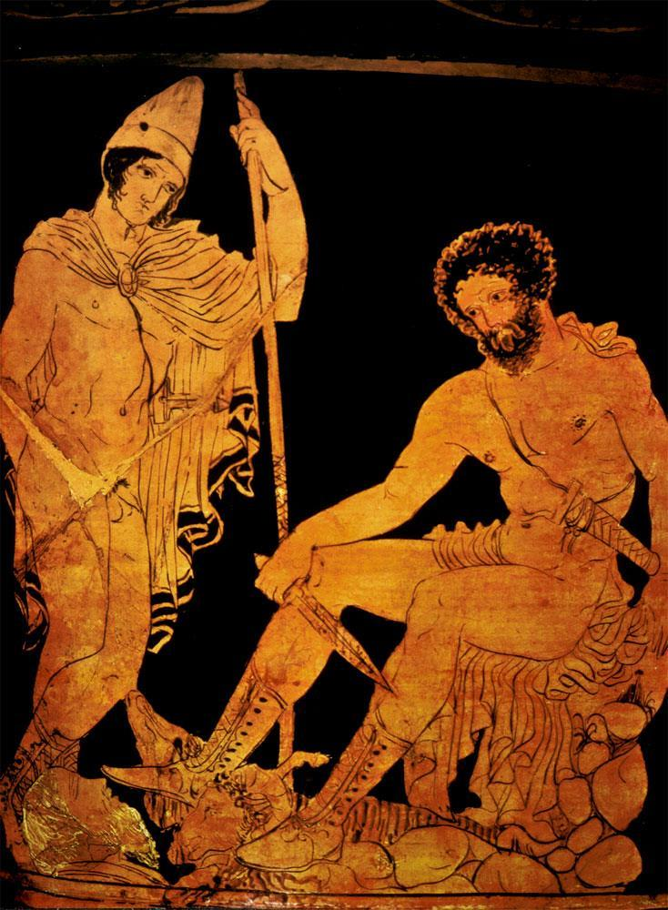 The conflicts among gods / goddesses on Mount Olympus affects the travels of Odysseus Athena is on Odysseus side (Greeks)