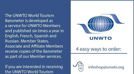 Volume 1 July 01 The UNWTO World Tourism Barometer is a publication of the World Tourism Organization (UNWTO).