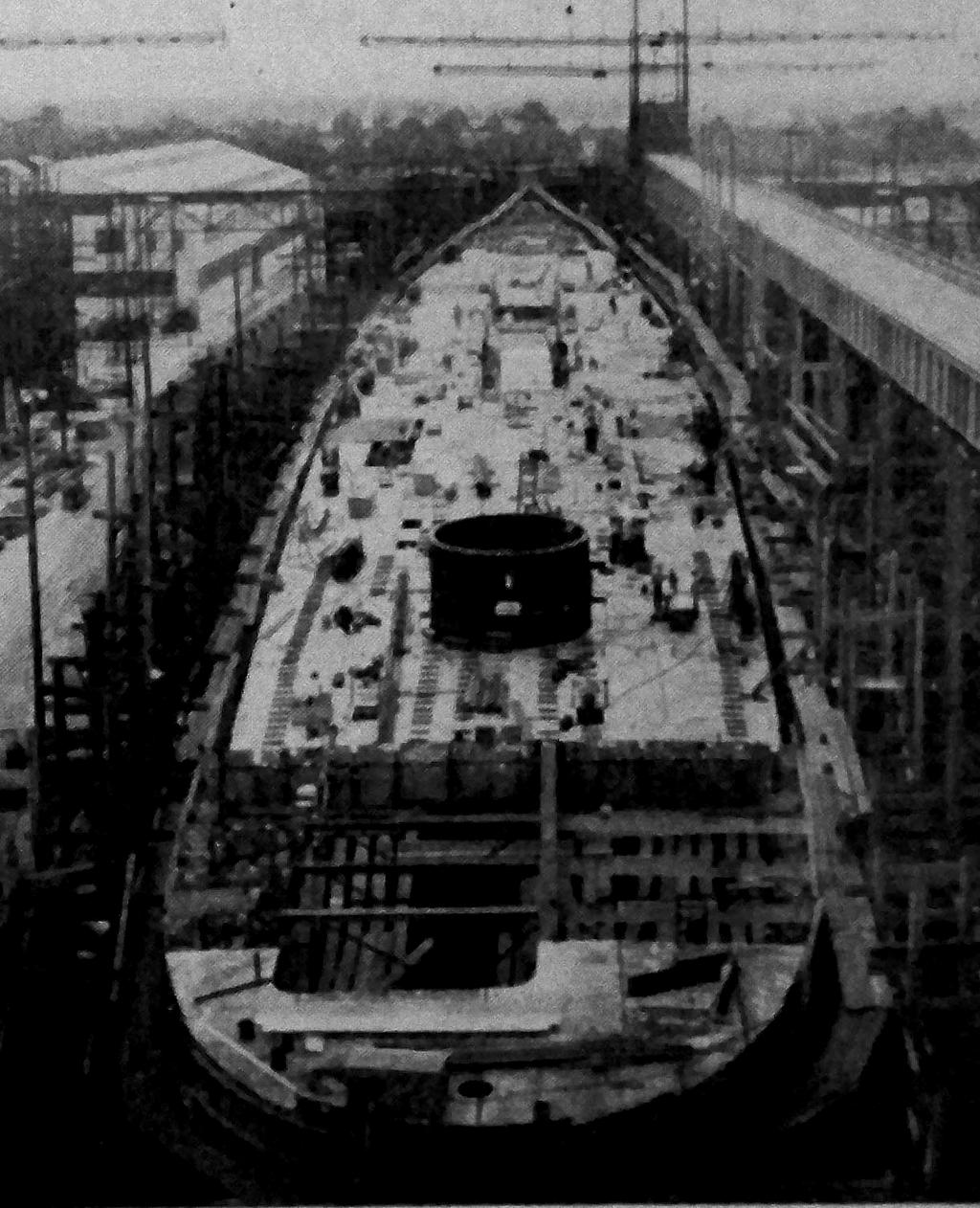 ~ History Repeats Itself ~ On August 11, 1945, on the eve of Japan s surrender, the Navy Department advised shipyard officials that work on five warships on the ways at NNS was to be cancelled.
