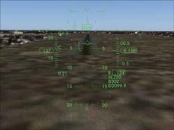 It shows the range of correct incidence for landing. You should maintain the flight path vector within this range to make a perfect landing.