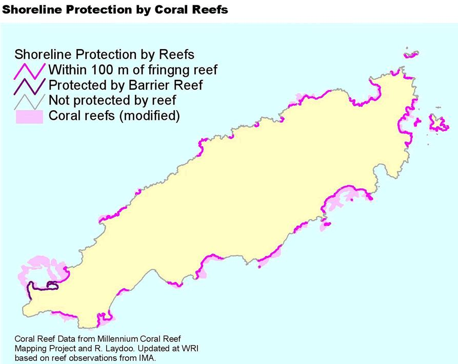 2. Reef Protection 0 Not protected by reef 51% 2 Within