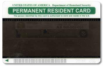 Also in circulation are older Resident Alien cards, issued by the U.S. Department of Justice, Immigration and Naturalization Service, which do not have expiration dates and are valid indefinitely.