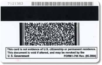 issues the Employment Authorization Document (Form I-766) to individuals granted temporary employment authorization in the United
