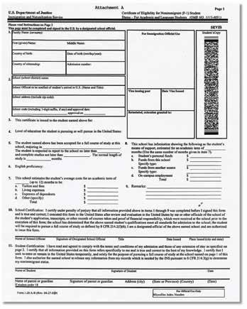 Form I-20 Accompanied by Form I-94 or Form I-94A Form I-94 or Form I-94A for F-1 nonimmigrant students must be accompanied by a Form I-20, Certificate of Eligibility for Nonimmigrant Students,
