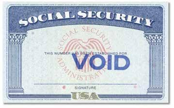 Metal or plastic reproductions are not acceptable. U.S. Social Security Card Certifications of Birth Issued by the U.S. Department of State These documents may vary in color and paper used.