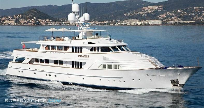 "Praxis 43.28m (141'11""ft) Feadship 1987 Luxury Yacht Praxis For Sale PRAXIS was built by Feadship at the Van Lent Shipyard and was launched as FIFFANELLA in 1987."