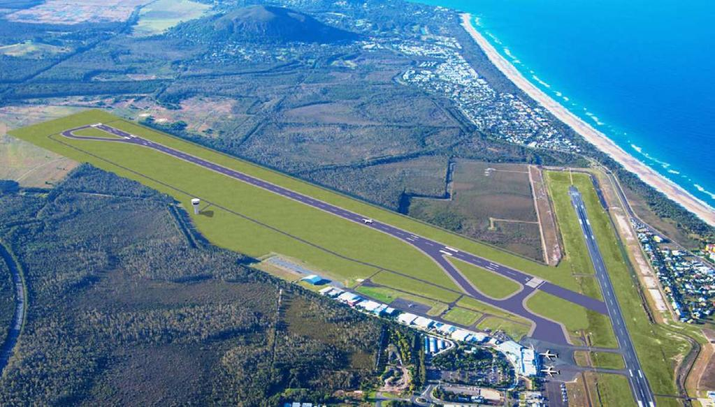 SUNSHINE COAST AIRPORT The Sunshine Coast Airport was opened in 1961 and is one of the busiest counciloperated airports in Australia, accommodating almost one million passenger movements in the