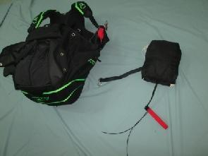 3. Set Up of the rescue parachute under the seat (round