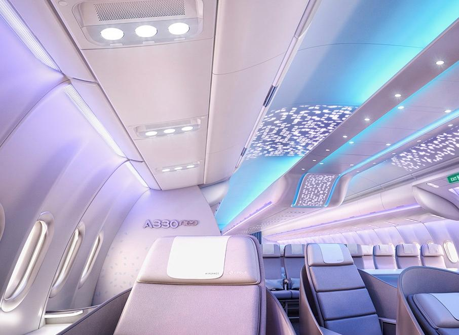 Airbus cabins pleasing more passengers, generating more The latest technology for a comfortable and connected