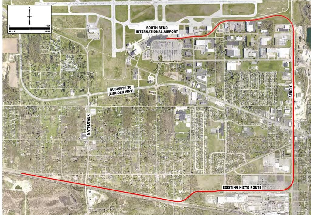SOUTH BEND RE-ROUTE Route Options between Oak