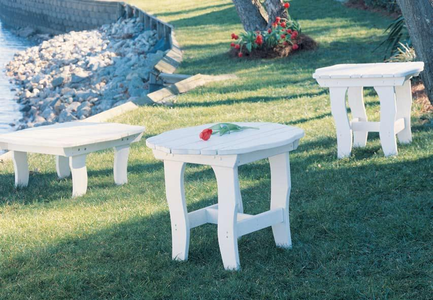 Table in White H 5040-013 End