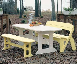 Behren s Bench w/out Back in Rustic Red (Seats 4) Cover B092-013 Behren s 48 Dining Table in White