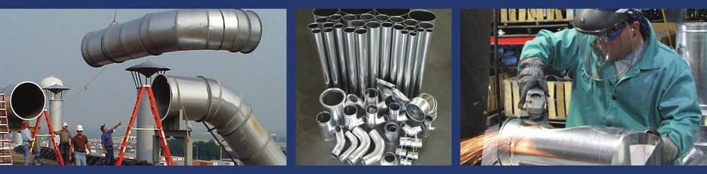 Duct And Components For Industrial Air Systems Flanged Duct and angle rings in stock and ready to ship.