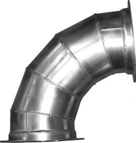 "K&B Duct Flanged Duct Elbows - Flanged Standard Radius (1.5) 90 deg 60 deg 45 deg 30 deg Dia. Part # Part # Part # Part # GA See note for sizes under 24. 24"" 22024.90 22024.60 22024.45 22024."