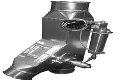 K&B Duct - Special Product Solutions Diverter Valves PROBLEM: Both dust collection and material transfer require that material be diverted to (or from) several different locations (machines, bins,