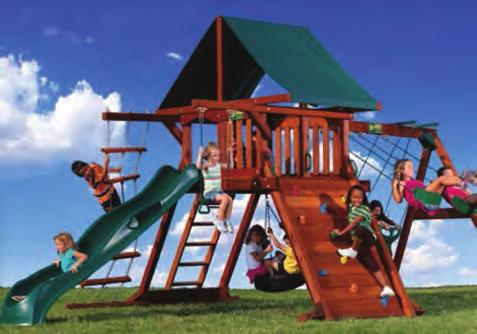 Bar Tire Swivel Swing Voyager #046-145 Fort Rock Wall Wave Slide 2 Belt Swings Monkey Bars Sandbox