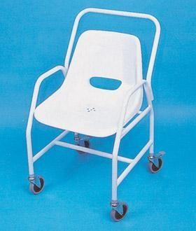 Item B-1.09 Chairs, Bathing Patient chair for facilitating bathing for disables patients 1) Chrome plated tubular steel frame. 2) Multi-layer epoxy coated or painted.