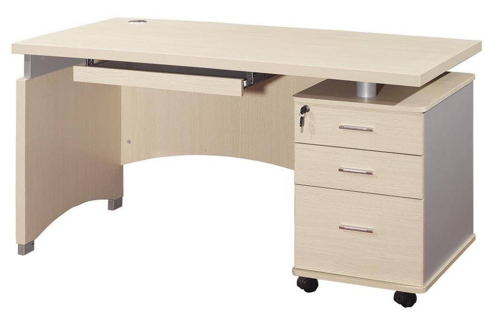 Item B-1.15 Desk Simple Metallic or highly compressed high quality chipboard desk for office use. 1) Simple sturdy office desk with two/three drawers mounted on one side.