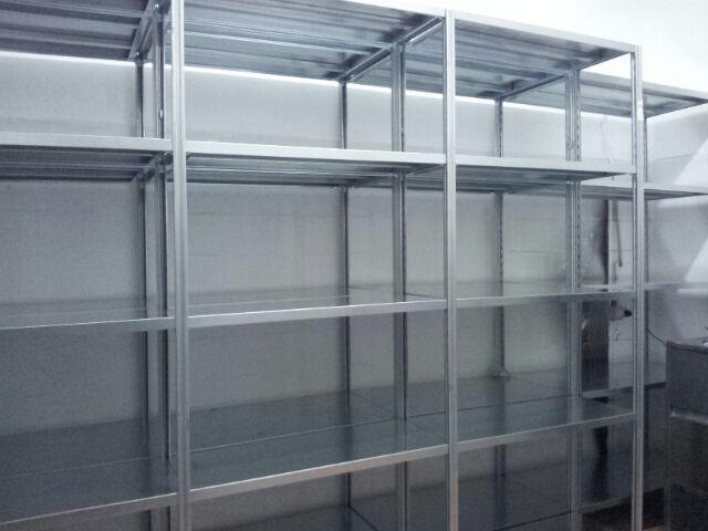Item B-1.19 Shelves, Metal, Free Standing Free standing single storage shelves unit for storage of different type of material.