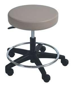 Item B-1.22 Stools, Adjustable Adjustable height stool for use in hospital environment. 1) Safety base manufactured from stainless steel with 5 swivel castors and chromium plated foot ring.