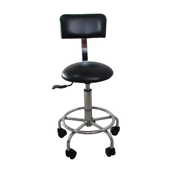 Item B-1.23 Stools, Adjustable, with Foot Support & Back Rest Adjustable height stool with back rest and feet support, for use in hospital environment and in particular for laboratory use.
