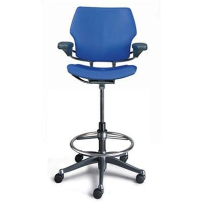 Item B-1.24 Stools, Reception backrest Stool for receptionist and Nurse station with footrest and backrest.