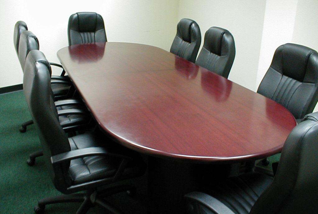Item B-1.25 Tables Meeting Traditional boardroom tables with 8 chairs.