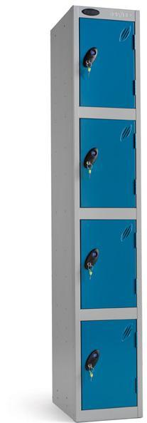 Item B-1.04 Cabinets, Storage System, 4 Doors Modular System Wardrobe designed for public places for storing personal effects and clothes, lockable.