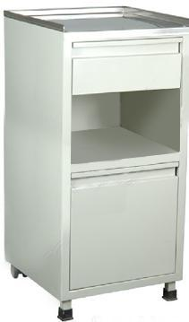 Item B-1.05 Cabinets, Storage, Bedside Bedside Cabinets for hospital patients ward 1) Manufactured from epoxy-coated steel, at least 14 gauge steel.