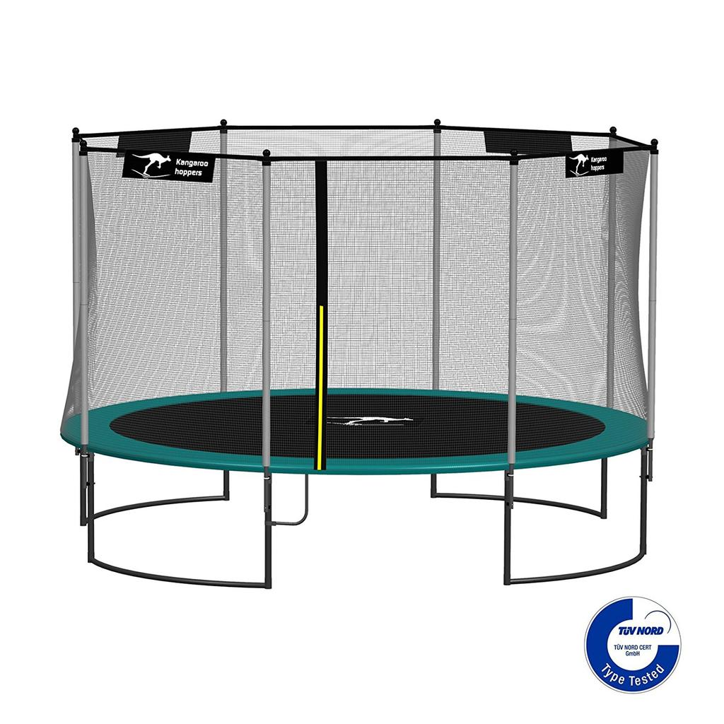 Kangaroo Hoppers 12-Feet Round Trampoline with Safety Net Enclosure and Spring Pad $795.00 delivered Kangaroo Hoppers 15-Feet Round Trampoline with Safety Net Enclosure and Spring Pad $980.
