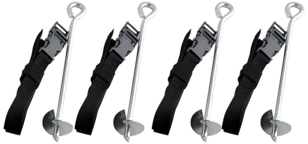 Upper Bounce Trampoline Anchor Kit Set of 4 $98.00 delivered These anchors are easy to assemble!